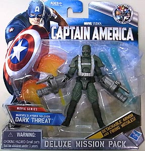 HASBRO 映画版 CAPTAIN AMERICA: THE FIRST AVENGER 3.75インチ DELUXE MISSION PACK MOVIE SERIES MARVEL'S HYDRA SOLDIER DARK THREAT