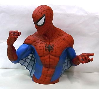 MONOGRAM SPIDER-MAN SPIDER-MAN BUST BANK ソフビ製