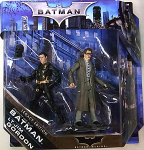 MATTEL BATMAN LEGACY 2PACK SERIES 1 BATMAN BEGINS PROTOTYPE SUIT BATMAN & LT. JIM GORDON