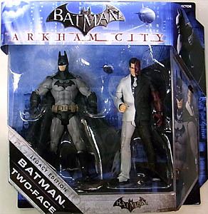 MATTEL BATMAN LEGACY 2PACK SERIES 1 ARKHAM CITY BATMAN & TWO FACE フック部分傷み特価