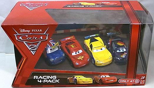 MATTEL CARS2 USA TARGET限定 RACING 4-PACK RONNIE DEL COOPER入り パッケージワレ特価