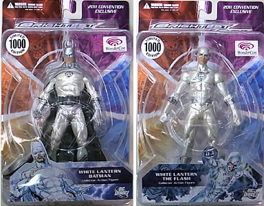 2011年ワンダーコン限定 DC DIRECT BRIGHTEST DAY WHITE LANTERN BATMAN & WHITE LANTERN THE FLASH 2種セット