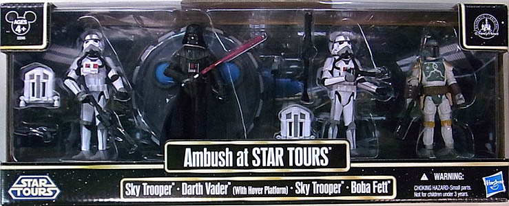 STAR WARS USAディズニーテーマパーク限定 STAR TOURS AMBUSH AT STAR TOURS 4PACK