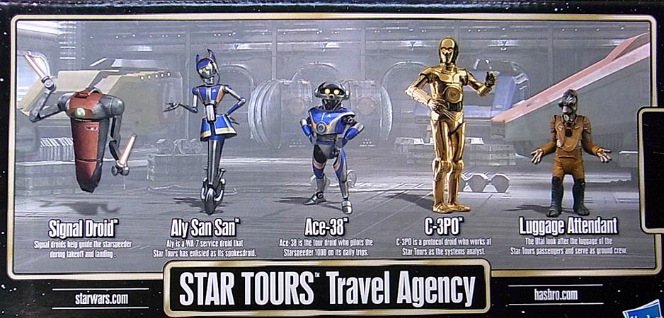 STAR WARS USAディズニーテーマパーク限定 STAR TOURS STAR TOURS TRAVEL AGENCY 5PACK