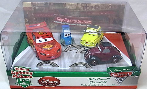 CARS2 USAディズニーストア限定 THAT'S AMORE!!! DIE CAST SET