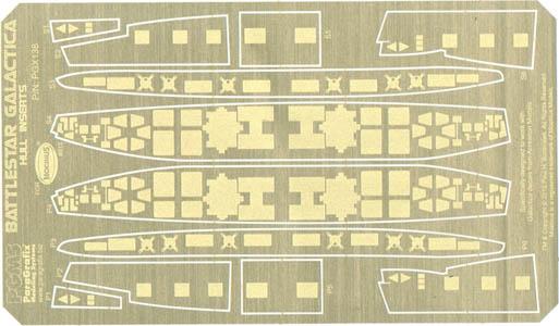PARAGRAFIX メビウスモデル 1/4105スケール バトルスターギャラクティカ 母船ギャラクティカ号用 エッチングパーツ HULL INSERTS / PGX138