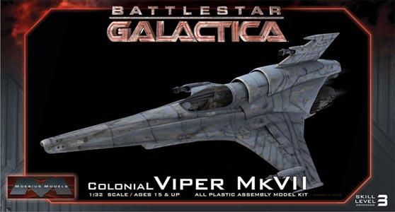メビウスモデル 1/32スケール バトルスターギャラクティカ コロニアルバイパー MK.VII 組み立て式プラモデル パッケージ傷み特価