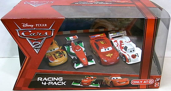 MATTEL CARS2 USA TARGET限定 RACING 4-PACK MIGUEL CAMINO入り ワケアリ特価