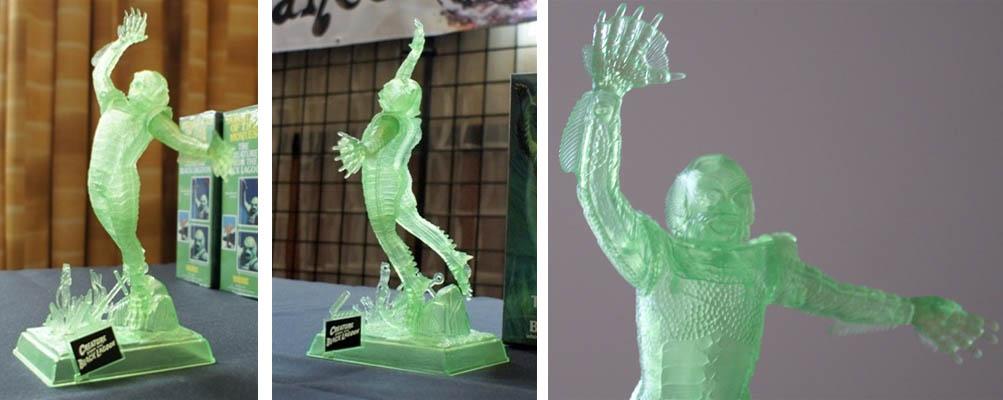メビウスモデル 2011年モンスターパルーザ限定 1/12スケール 半魚人 クリアーグリーン成型 組み立て式プラモデル
