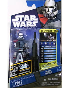 HASBRO STAR WARS THE CLONE WARS BASIC FIGURE CLONE COMMANDER COLT