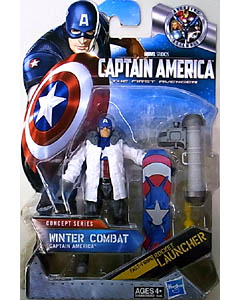 HASBRO 映画版 CAPTAIN AMERICA: THE FIRST AVENGER 3.75インチ CONCEPT SERIES WINTER COMBAT CAPTAIN AMERICA