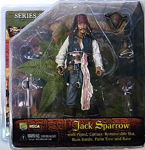 NECA PIRATES OF THE CARIBBEAN DEAD MAN'S CHEST SERIES 2 JACK SPARROW