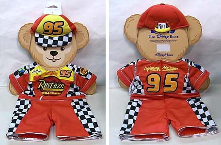 DISNEY USAディズニーテーマパーク限定 DUFFY THE DISNEY BEAR COSTUME [DUFFY THE DISNEY BEAR CARS LIGHTNING McQUEEN COSTUME]