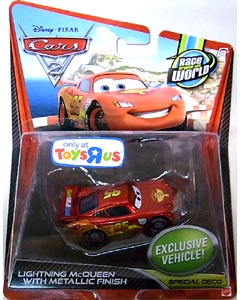 MATTEL CARS2 シングル USA TOYSRUS限定 LIGHTNING McQUEEN WITH METALLIC FINISH