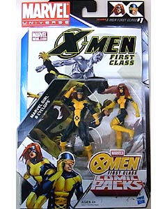 HASBRO MARVEL UNIVERSE COMIC PACKS X-MEN FIRST CLASS MARVEL GIRL & CYCLOPS 台紙傷み特価