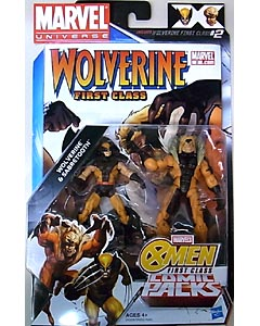 HASBRO MARVEL UNIVERSE COMIC PACKS WOLVERINE FIRST CLASS WOLVERINE & SABRETOOTH