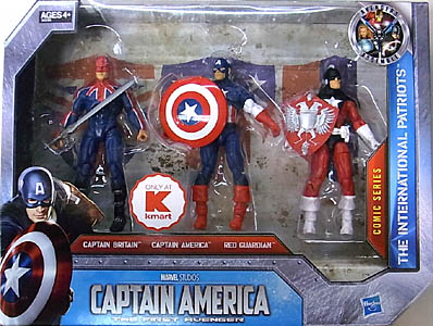 HASBRO 映画版 CAPTAIN AMERICA: THE FIRST AVENGER USA KMART限定 3.75インチ COMIC SERIES THE INTERNATIONAL PATRIOTS 3PACK