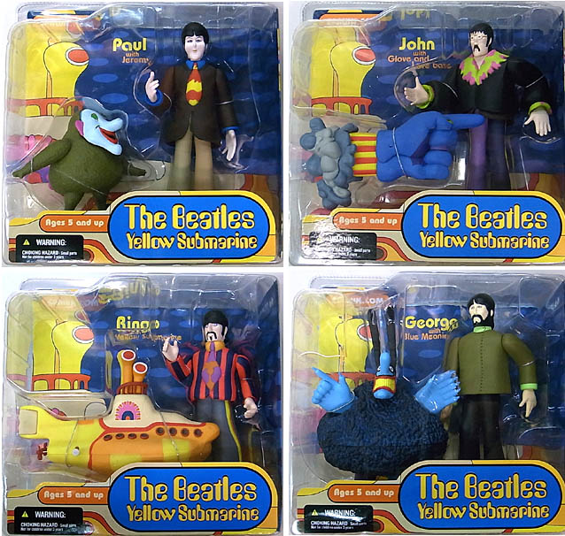 McFARLANE THE BEATLES YELLOW SUBMARINE 4種セット