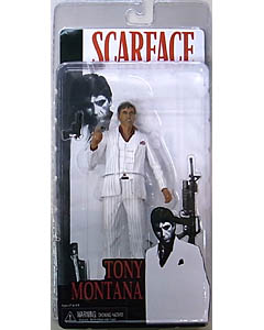 NECA SCARFACE 7インチアクションフィギュア TONY MONTANA [WHITE SUIT] ワケアリ特価