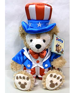 DISNEY USAディズニーテーマパーク限定 DUFFY THE DISNEY BEAR 12INCH UNCLE SAM 4TH OF JULY DUFFY THE DISNEY BEAR