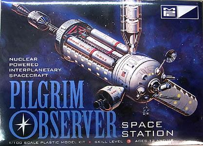 MPC 1/100スケール ピルグリム オブザーバー 宇宙ステーション 組み立て式プラモデル