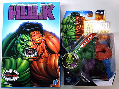 2011年ニューヨーク コミコン限定 HASBRO MARVEL UNIVERSE IMPOSSIBLE SERIES 50/50 COMPOUND HULK