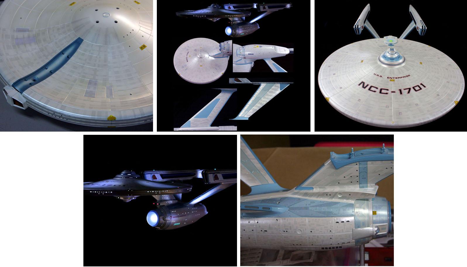 POLAR LIGHTS 1/350スケール STAR TREK U.S.S. ENTERPRISE NCC-1701A アズテックデカールセット