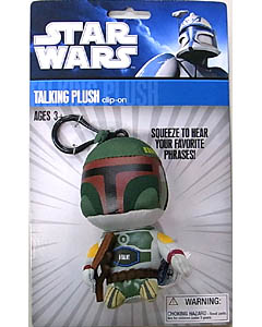 UNDERGROUND TOYS STAR WARS TALKING PLUSH CLIP-ON BOBA FETT