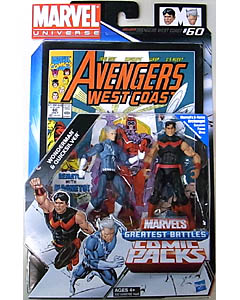 HASBRO MARVEL UNIVERSE COMIC PACKS AVENGERS WEST COAST WONDERMAN & QUICKSILVER
