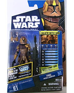 HASBRO STAR WARS THE CLONE WARS BASIC FIGURE CLONE COMMANDER JET