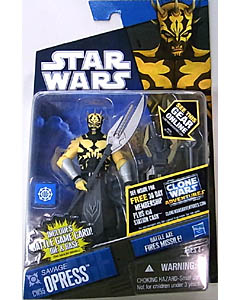 HASBRO STAR WARS THE CLONE WARS BASIC FIGURE SAVAGE OPRESS