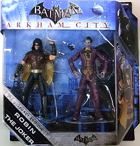MATTEL BATMAN LEGACY 2PACK SERIES 2 ARKHAM CITY ROBIN & JOKER フック部分破れ&ブリスター傷み特価