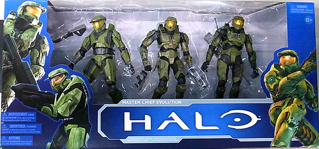 McFARLANE HALO: ANNIVERSARY SERIES 1 3PACK MASTER CHIEF EVOLUTION