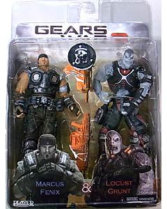 NECA GEARS OF WAR 3 USA TOYSRUS限定 2PACK MARCUS FENIX & LOCUST GRUNT