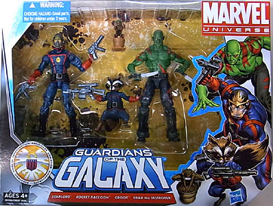 HASBRO MARVEL UNIVERSE 4PACK GUARDIANS OF THE GALAXY パッケージ傷み特価