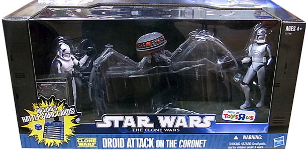 HASBRO STAR WARS THE CLONE WARS USA TOYSRUS限定 BATTLE PACKS DROID ATTACK ON THE CORONET