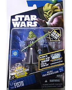 HASBRO STAR WARS THE CLONE WARS BASIC FIGURE KIT FISTO [COLD WEATHER GEAR]