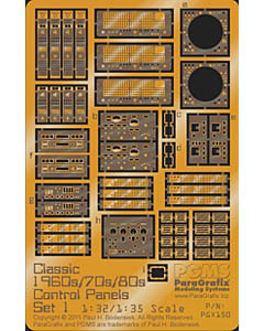 PARAGRAFIX 1/32 & 1/35スケール クラシックビークル対応 コントロールパネルエッチングセット / PGX150