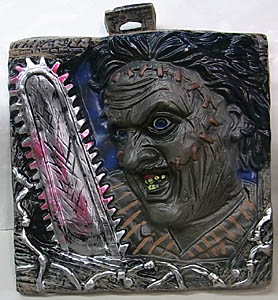 RUBIE'S THE TEXAS CHAINSAW MASSACRE リメイク版 LEATHERFACE WALL MOUNT ダメージ特価
