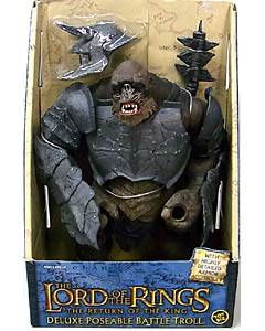 TOYBIZ THE LORD OF THE RINGS THE RETURN OF THE KING DX POSEABLE BATTLE TROLL