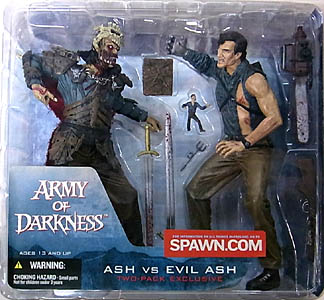 McFARLANE MOVIE MANIACS ARMY OF DARKNESS ASH VS EVIL ASH 2PACK