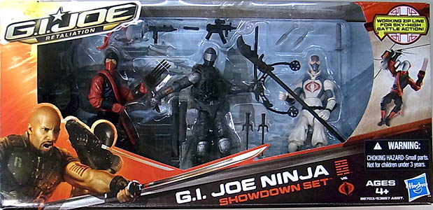 HASBRO 映画版 G.I. JOE: RETALIATION 3PACK G.I.JOE NINJA SHOWDOWN SET