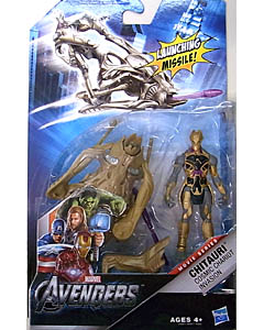 HASBRO 映画版 THE AVENGERS 3.75インチ MOVIE SERIES CHITAURI COSMIC CHARIOT INVASION