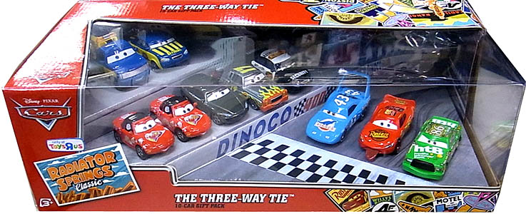 MATTEL CARS USA TOYSRUS限定 RADIATOR SPRINGS CLASSIC THE THREE-WAY TIE 10-CAR GIFT PACK