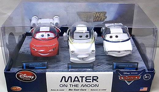 CARS USAディズニーストア限定 ダイキャストミニカー 3PACK MATER ON THE MOON パッケージ傷み特価