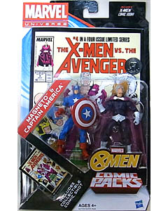 HASBRO MARVEL UNIVERSE USA TOYSRUS限定 COMIC PACKS THE X-MEN VS. THE AVENGERS MAGNETO & CAPTAIN AMERICA 台紙傷み特価