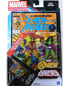 HASBRO MARVEL UNIVERSE USA TOYSRUS限定 COMIC PACKS THE X-MEN VS. THE AVENGERS WOLVERINE & SHE-HULK
