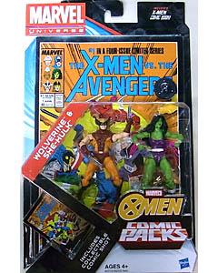 HASBRO MARVEL UNIVERSE USA TOYSRUS限定 COMIC PACKS THE X-MEN VS. THE AVENGERS WOLVERINE & SHE-HULK