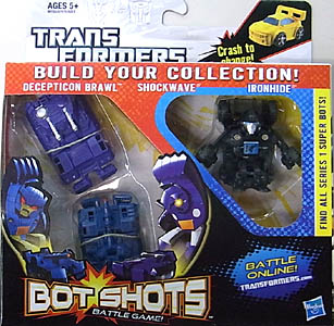 HASBRO TRANSFORMERS BOT SHOTS VALUE PACK DECEPTICON BRAWL & SHOCKWAVE & IRONHIDE [SUPER BOT]