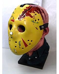 個人ハンドメイド品 13日の金曜日 パート4 ジェイソン FRP製 ディスプレイ仕様マスク